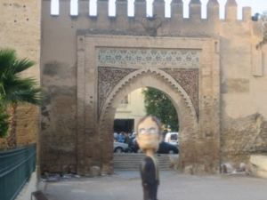 Our escort, at the entrance to the Fez medina