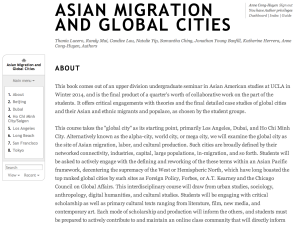 Asian Migration and Global Cities Scalar Book
