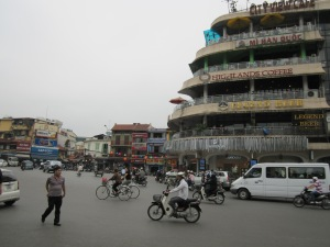 Traffic circle at Hoan Kiem Lake