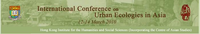 Ecologies of Asian Urbanism