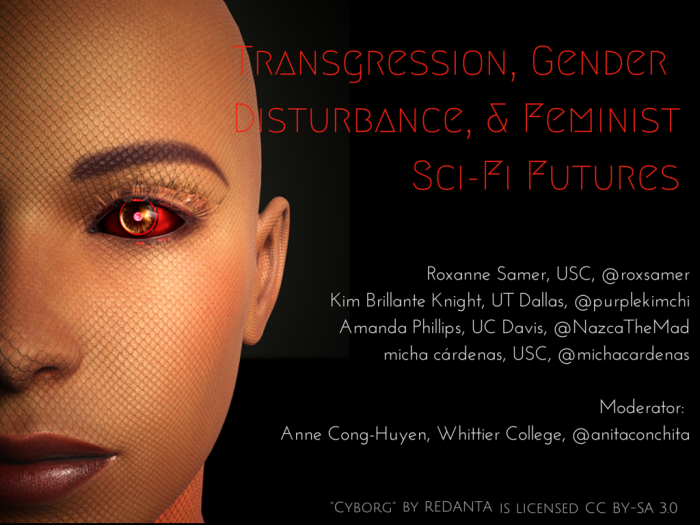 Transgression, Gender Disturbance, & Feminist Sci-Fi Futures Title Slide