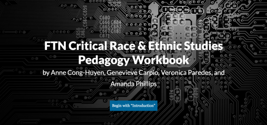 Screenshot of splash page for FTN Pedagogy workbook,